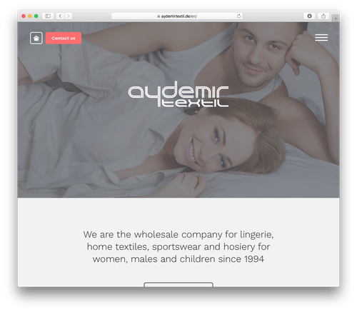 Screenshot: Aydemir Textil Website